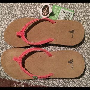 Pink Sanuk Flip Flops
